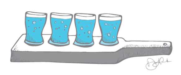 Product Sampling - Beer Paddle Illustration